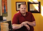 Author Craig Lancaster works in his Billings home.Thursday, September 23, 2010.