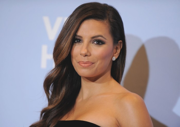 Eva Longoria backstage at the ALMA Awards on Sunday, Sept. 16, 2012, in Pasadena, Calif. (Photo by Jordan Strauss/Invision/AP)