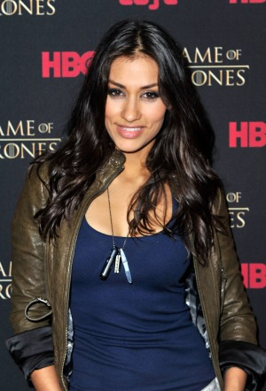 "SAN DIEGO, CA - JULY 13: Actress Janina Gavankar attends the ""Game Of Thrones"" HBO celebration party inside the WIRED Cafe at Palm Terrace At The Omni Hotel during Comic-Con International 2012 on July 13, 2012 in San Diego, California. (Photo by Jerod Harris/Getty Images for WIRED)"